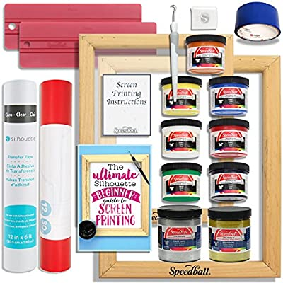 Silhouette Cameo Advanced Screen Printing Bundle with Extra Paints, 2 Screens, and More