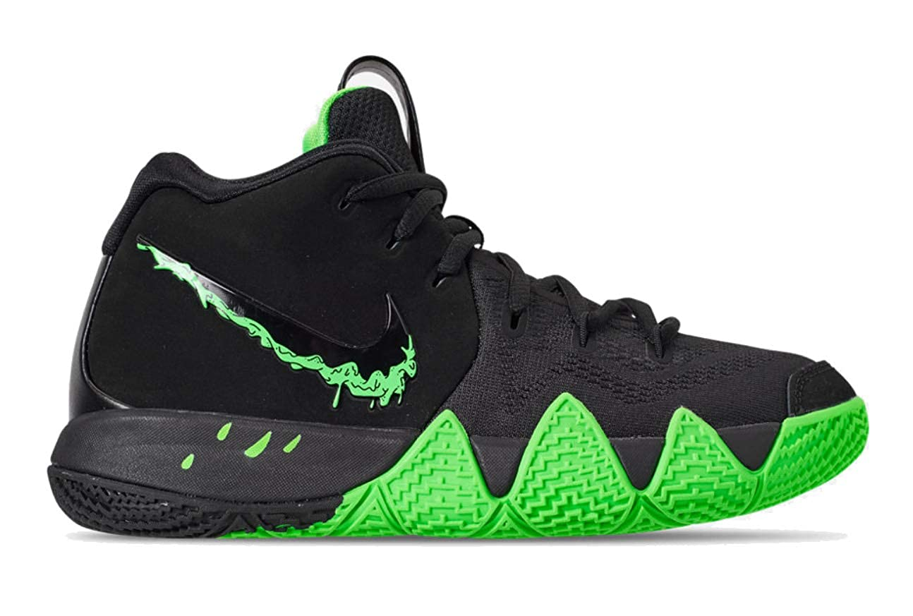 premium selection 49128 86c23 Amazon.com   Nike Kids  Grade School Kyrie 4 Basketball Shoes (4.5, Black Rage  Green)   Basketball
