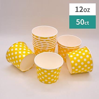 Amazoncom Paper Ice Cream Cups 12 Oz Polka Dot Dessert Bowls