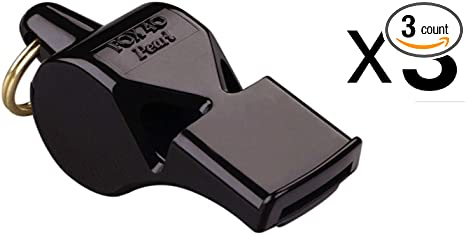 2-Pack Lifeguard-Black Fox 40 Classic Whistle Referee Safety Alert Dog Rescue