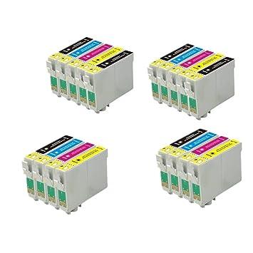 18 ECS Cartucho de Tinta Compatible reemplazar T1285 para Epson ...