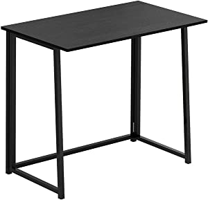 PAKASEPT Folding Desk, No-Assembly Small Computer Desk Home Office Desk Foldable Table Study Writing Desk Vintage Brown Workstation for Small Space Offices (31.5x17.7x29.1) (Black)
