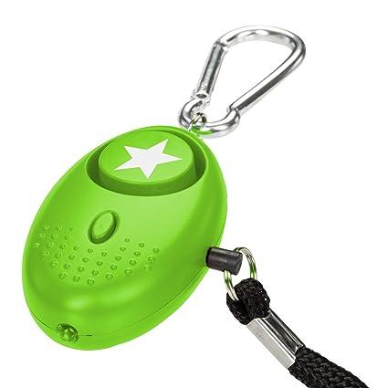 tiiwee Alarma Personal - 130dB Alarma de Pánico con la protección de antorcha – Seguridad contra violaciones - Defensa Personal