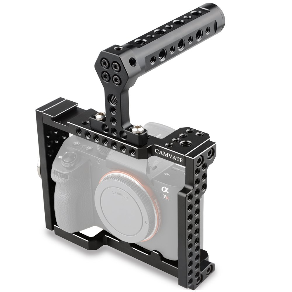 CAMVATE A7RIII/A7III Camera Cage with Top Handle Grip DSLR Rig for Sony A7 Series