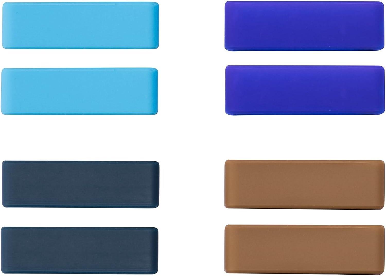 Ullchro 8 Pcs la Correa de Goma de Retención Reparaciones del Anillo del Lazo Guardián de la Hebilla 20 Colors - 12, 14, 16, 17, 18, 19, 20, 22, 24, 26 mm