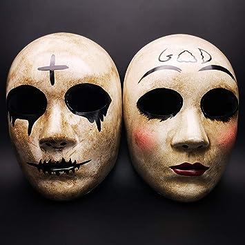 CCUFO Máscara Cruzada y máscara de Dios para Disfraz de Halloween, máscara de Pareja,