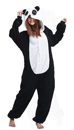 3d2200eb655 Amazon.com  iNewbetter Sleepsuit Costume Cosplay Lounge Wear Kigurumi Onesie  Pajamas Panda  Clothing