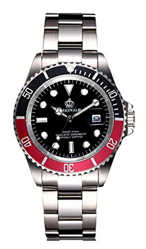 Mens Luxury Rotatable Bezel Calendar Sport Luminous Business Quartz Waterproof Stainless Steel Watches