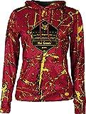 Girls' Hat Creek Volunteer Fire Department Distressed Hoodie Sweatshirt (Large)