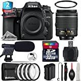 Holiday Saving Bundle for D7500 DSLR Camera + AF-P 18-55mm + 2yr Extended Warranty + 32GB Class 10 Memory + + 1, + 2, + 4 & + 10 Macro Filter Kit + UV Filter + Cleaning Kit - International Version