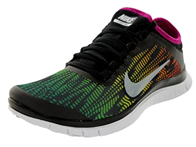Nike Womens Free 3.0 V5 PNT BlackWhiteBrightMagentaMulti Running Shoes  US
