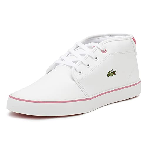lacoste shoes ampthill sneaker - white and pink or grey and teal
