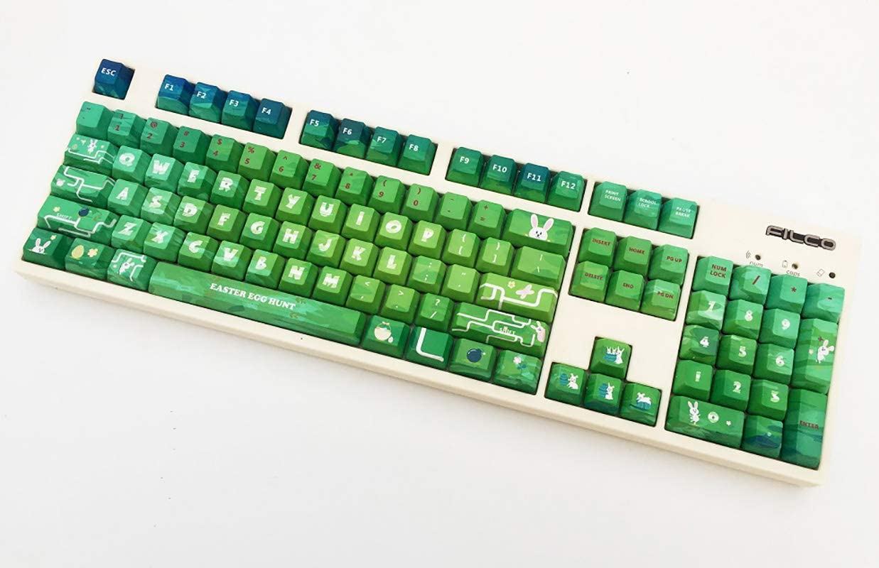 Cherry Height//OEM Height 87//104//108 Key SSSLG PBT Keycaps,Custom Keycaps Suitable for Cherry MX Switch,104