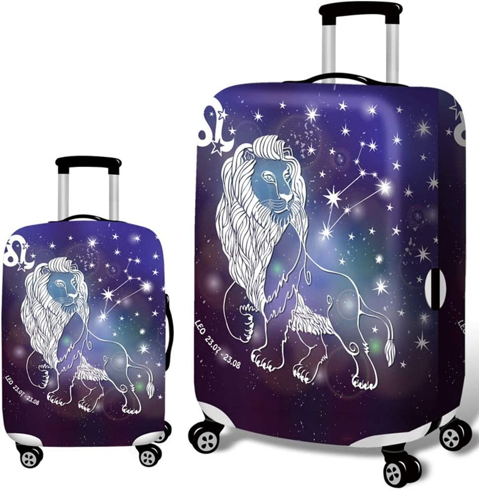 Xiejuanjuan Spandex Luggage Cover for Travel Signs of The Zodiac Travel Luggage Cover Spandex Suitcase Protector for 18-32 Luggage 22-24 Color : Libra, Size : M