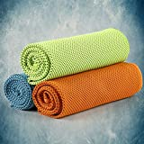 CyvenSmart Cooling Towel (3 Pack),Cold Towel Make Your Cool Neck 40'x12' Ice Towel, Microfiber Towel for Sports, Workout, Fitness, Gym, Yoga, Pilates, Travel, Camping and More