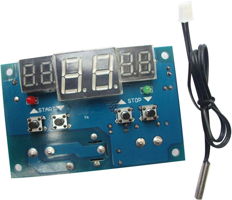 NAttnJf Contr/ôleur de temp/érature Sonde de CTN imperm/éable de commutateur de contr/ôleur de temp/érature de LED de CC 12V W1401 Digital
