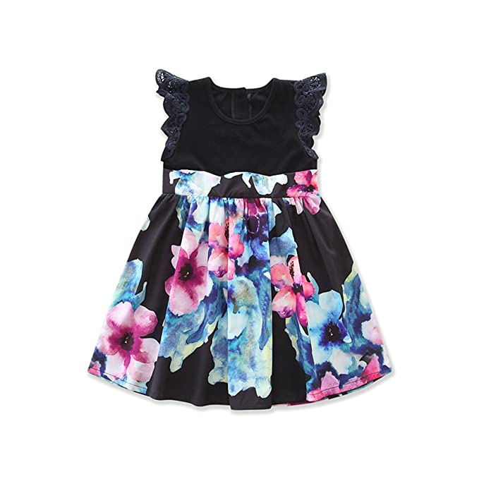 303b2324fa Family Matching Clothes Mommy and Me Sleeveless Floral Dresses Outfits Set  -Glosun (1-