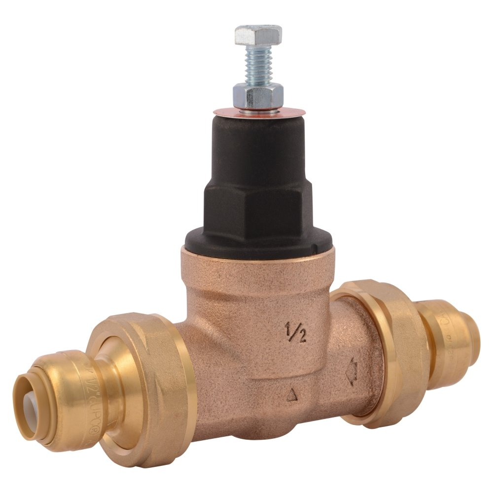 Cash Acme 23893-0045 Pressure Regulator, EB45-DUSB Double Union Shark Bite, 1/2''