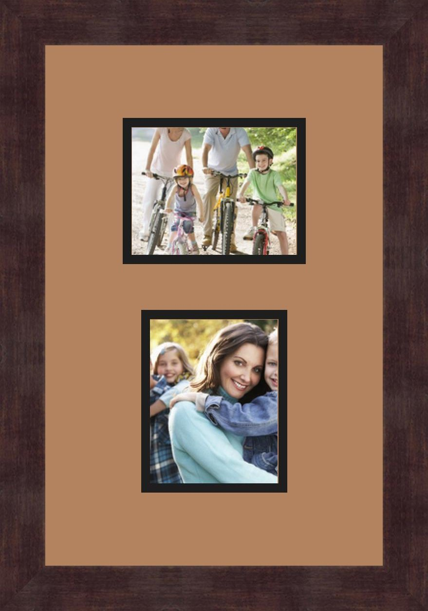 Art to Frames Double-Multimat-191-771//89-FRBW26061 Collage Frame Photo Mat Double Mat with 2-4x5 Openings and Espresso Frame