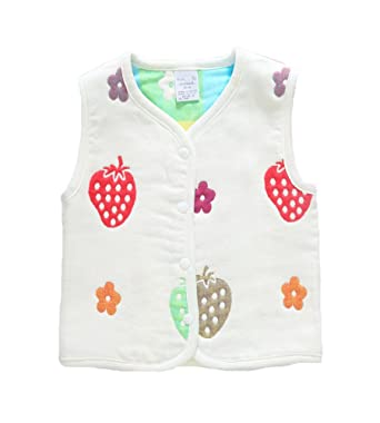 21d9ed802 Amazon.com  Monvecle Baby Cotton Warm Vests Unisex Infant to Toddler ...