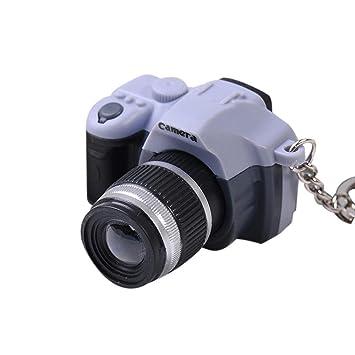 Fami - Llavero en forma de cámara de fotos con luz y sonido ...