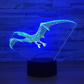 Lámpara de murciélago de ilusión 3D Colorido acrílico LED Luz de ...