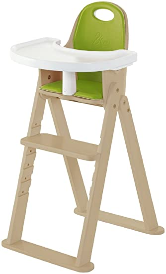 High Chair   Award Winning Svan Baby To Booster Bentwood Folding Chair With  Removable Cushion (