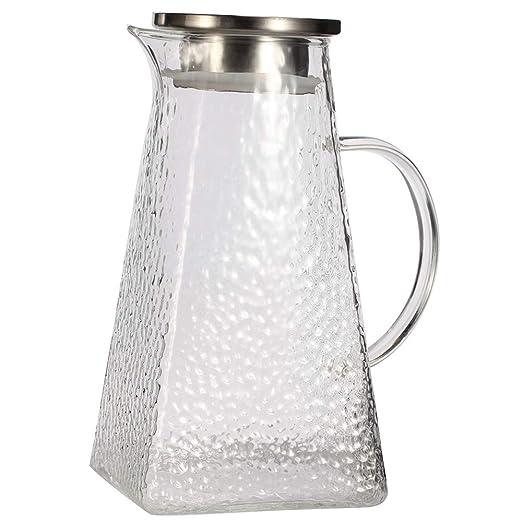 G.a HOMEFAVOR Jarra Agua Cristal de Borosilicato con Tapa Jarra de ...