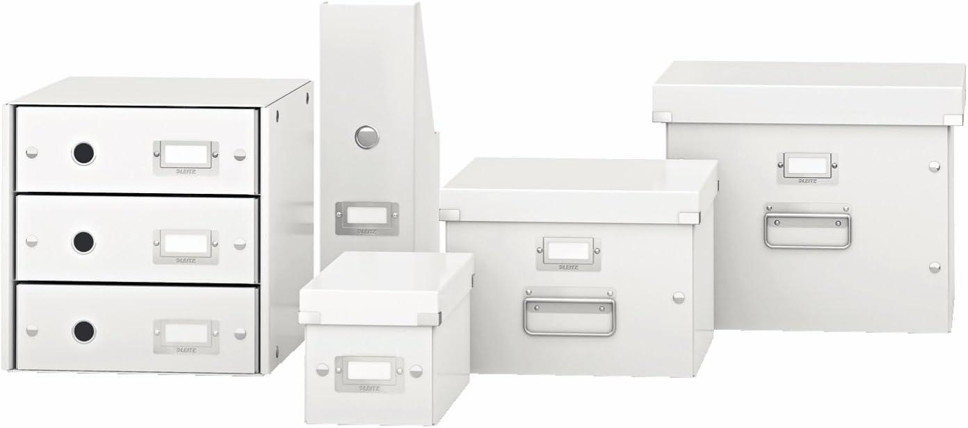 F/ür A4 Mit Deckel Mittelgro/ße Aufbewahrungs- und Transportbox Orange 60440044 Leitz Click /& Store