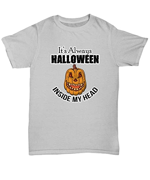 funny halloween tees its always halloween inside my head quote surprise your family and