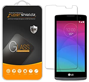 Supershieldz (2 Pack) for LG Leon LTE Tempered Glass Screen Protector, Anti Scratch, Bubble Free
