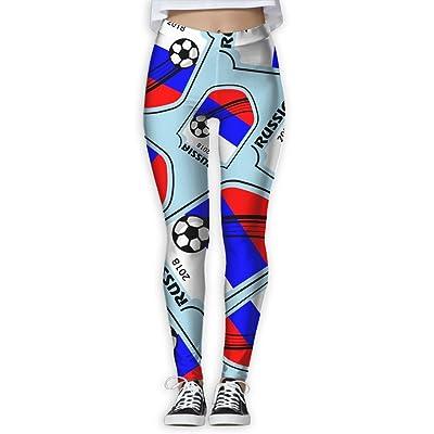 2018 Football Russia Women Printed Yoga Pants Flex Leggings Workout Capris