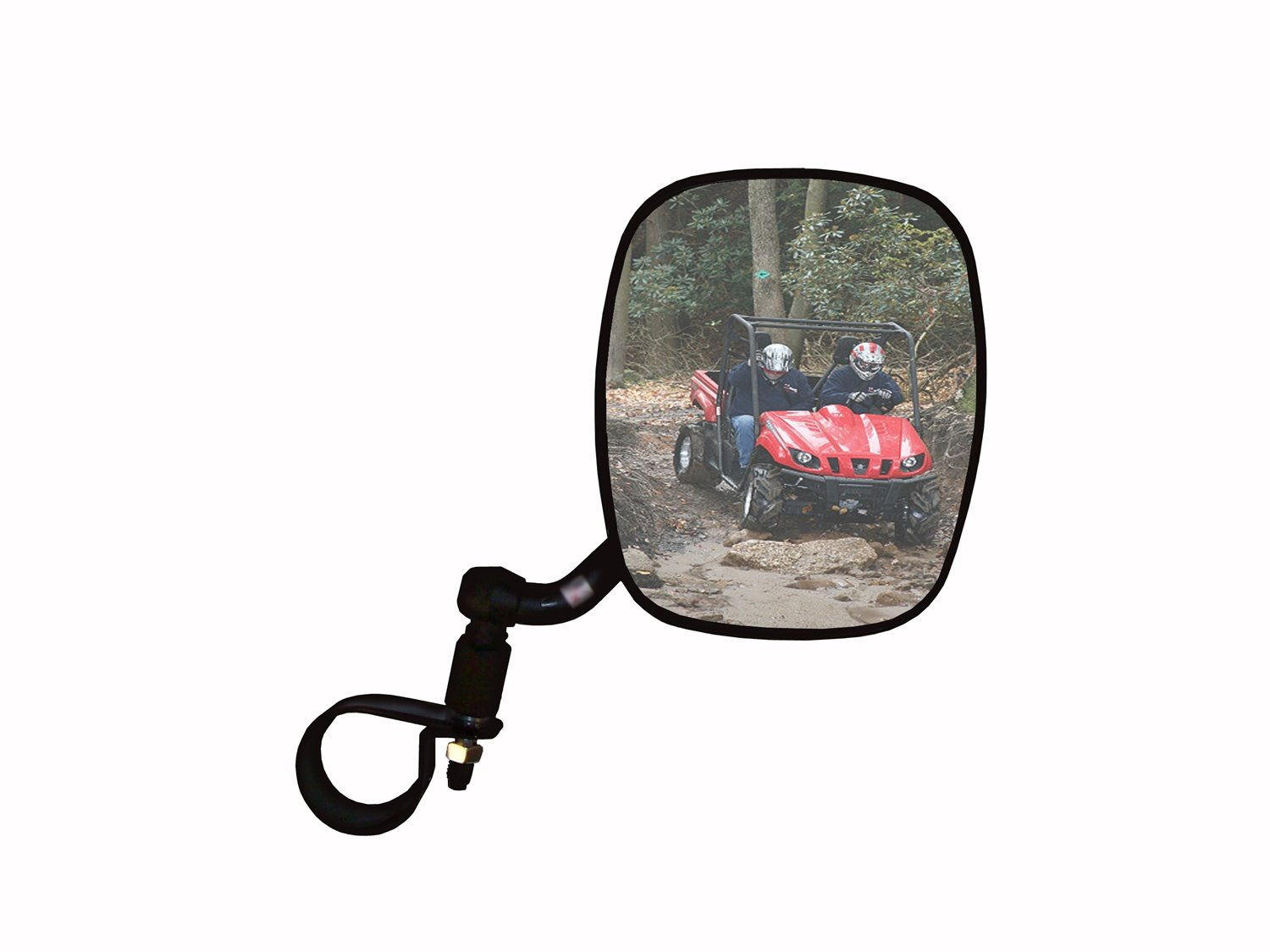CIPA M38 UTV Side View Mirror Black Passenger Side fits Rollcage diameters from 1-3//4 to 2