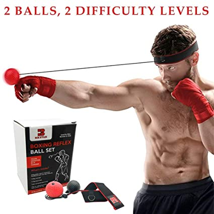 Boxing Reflex Ball By Box R Flex Punching Ball Headband For Reflex Strength Training Speed Reaction Increase Hand Eye Coordination Exercises