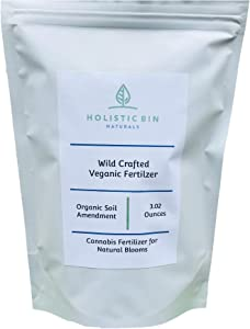 Wild Crafted Veganic Fertilizer/Soil Amendment by Holistic Bin for High Value Natural Blooms - Best Indoor/Outdoor/Hydro Natural Grow Formula