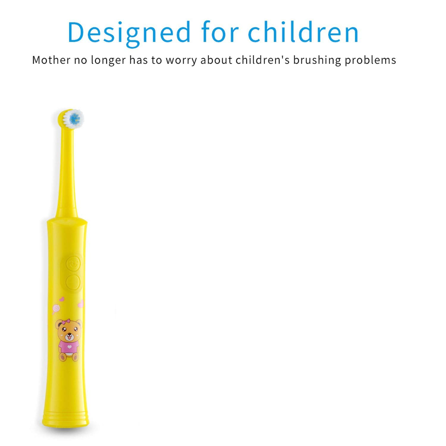 Amazon.com: Rotating Children Electric Toothbrush Tooth Brush Teeth Electric Toothbrush Rechargeable Hygiene Dental Care R01,R01 yellow: Beauty
