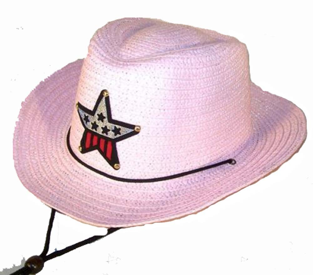 12 Bulk Lot Assorted Colors Kids Straw Western Cowboy / Cowgirl Hat with Americian Flag Star Emblem Patch -Childrens Size by Novelties company (Image #5)
