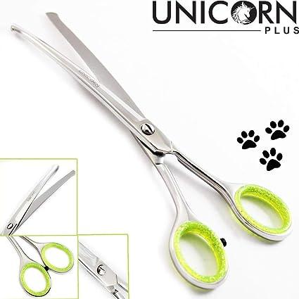 """Unicorn Plus 6.5"""" tijeras de peluquería profesional para perros/gatos - Punta para perro"""