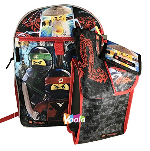Price comparison product image Lego Ninjago Movie Boys Backpack and Lunch Bag - 5pc School Essentials Set