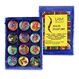 Lasa Aromatics Natural Solid Perfumes 12 Fragrance Wheat Germ Oil With Bee Wax
