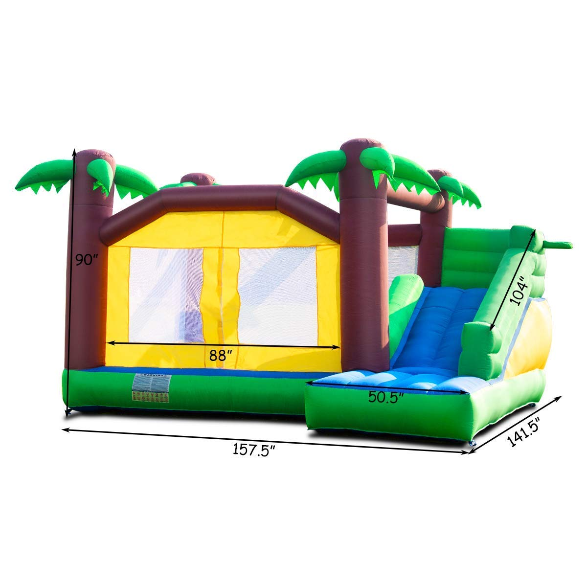 Costzon Inflatable Jungle Bounce House Jump and Slide Bouncer Castle (Bouncer with 950W Blower) by Costzon (Image #7)