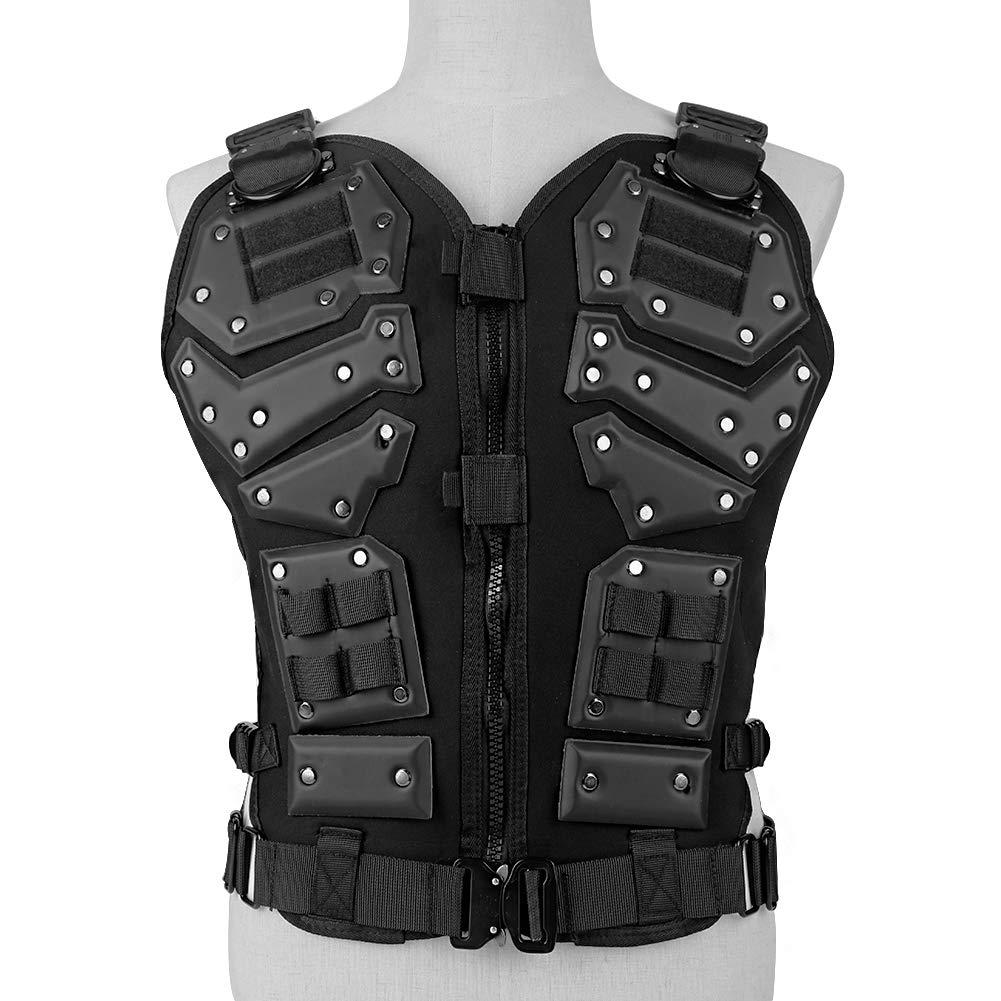 Black 45x25x53cm H0_V Military Tactical Vest,Tactical Assault Vest Military Vest For Airsoft Paintball CS Game  Black