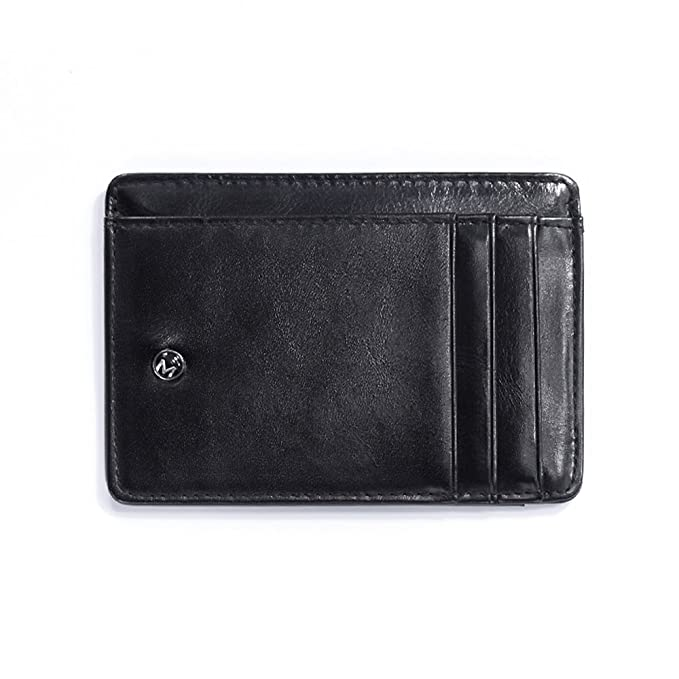 OMcolor Leather Front Pocket Slim Minimalist Wallet for Men & Women
