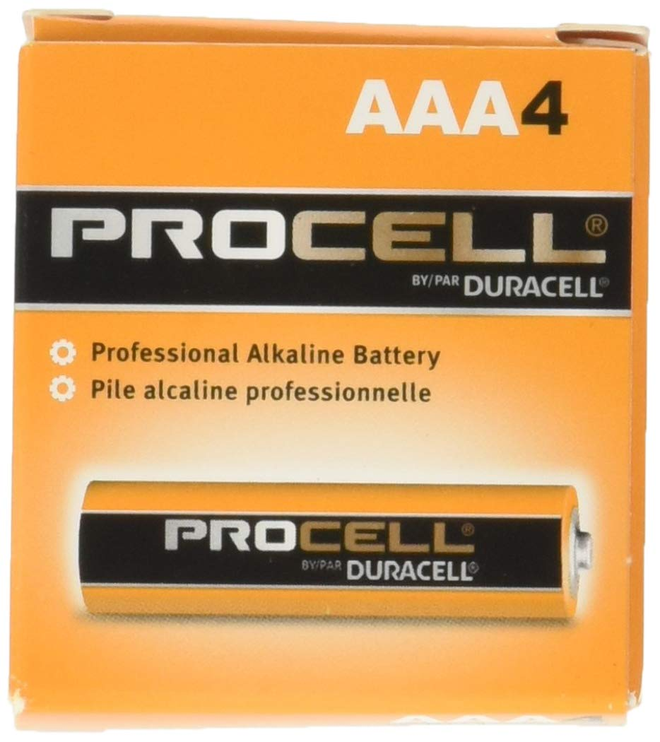 Procell Alkaline Batteries, AAA, 24/Box, Total 144 EA, Sold as 1 Carton by Duracell