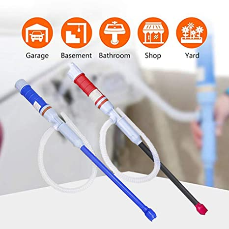 WEKON Transfer Oil//Water//Fuel Gas Siphon Pump Gasoline Siphon Hose Hand Syphon Pump with Eco-Friendly Hose Manual Diesel Pump for Car Boat Motorcycle