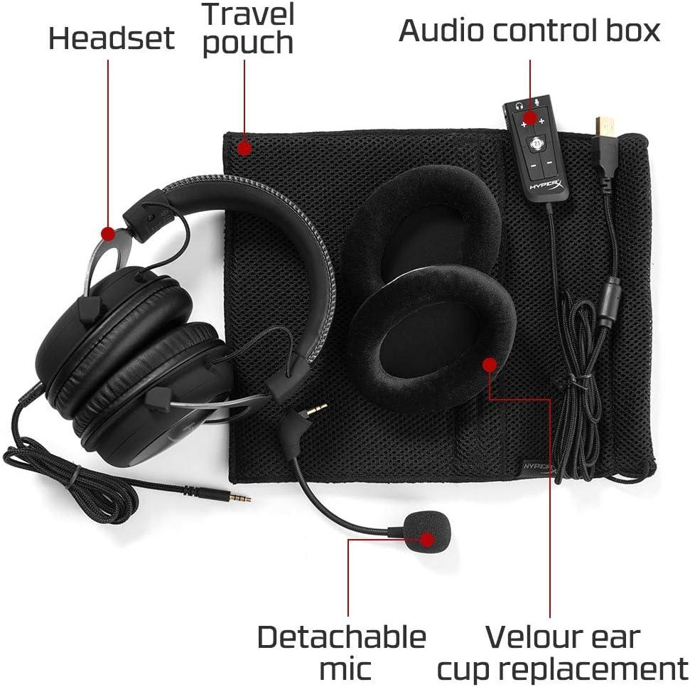 HyperX Cloud II - Gaming Headset, 7.1 Surround Sound, Memory Foam Ear Pads,