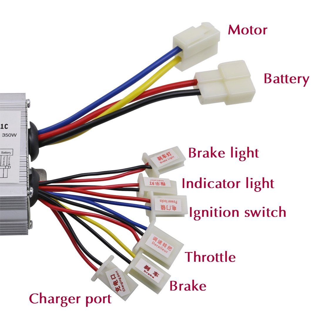 Jcmoto 24v 350w Brush Speed Motor Controller For Ct 302s9 Wiring Diagram Electric Scooter Bicycle E Bike Tricycle Sports Outdoors