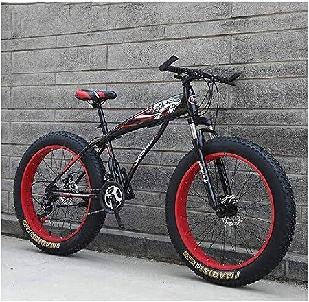 WEN Bicicletas de montaña Edad, Niños Niñas Fat Tire montaña Bicicleta de Pista, Doble Freno de Disco de la Bici de montaña Rígidas, Marco de Acero de Alto Carbono, Bicicletas: Amazon.es: Hogar
