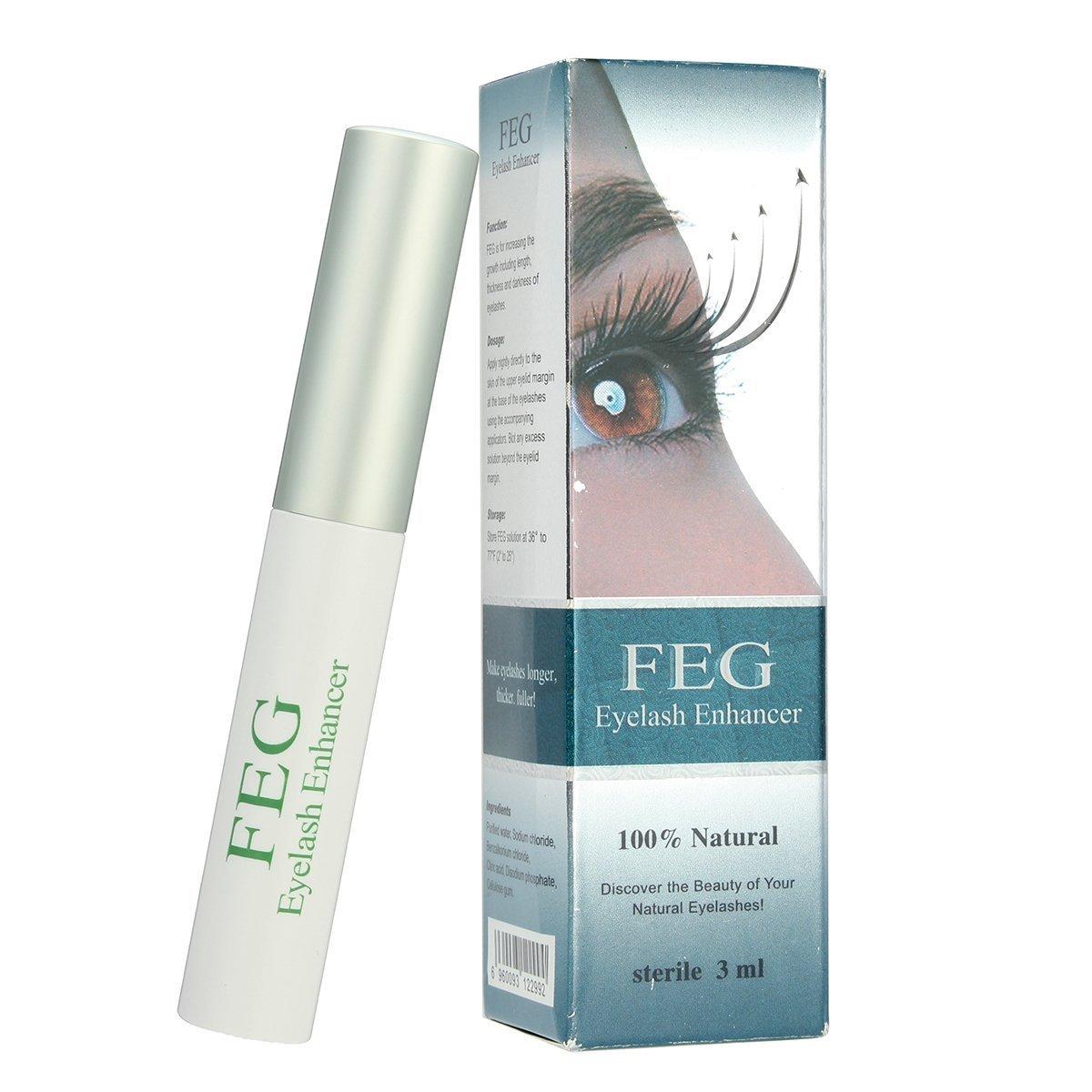 Eyelashes Growth Serum -LuckyFine- Crescita Siero Ciglia Siero Volumizzante per Ciglia Siero per Infoltire le Ciglia Arricchisce Ciglia e Sopracciglia Rendendole più Lunghe, Folte e Rigogliose, Esalta la Naturale Bellezza (3ml)