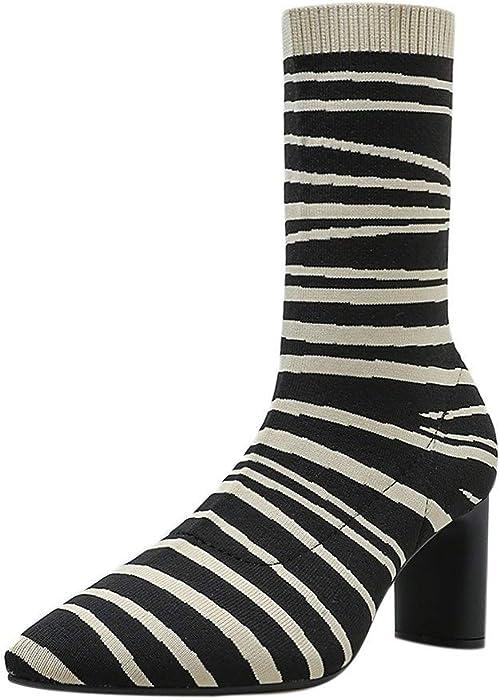 4d6efecafa99c Amazon.com: Hunzed Women Shoes Zebra Pattern with high Heel Girl's ...